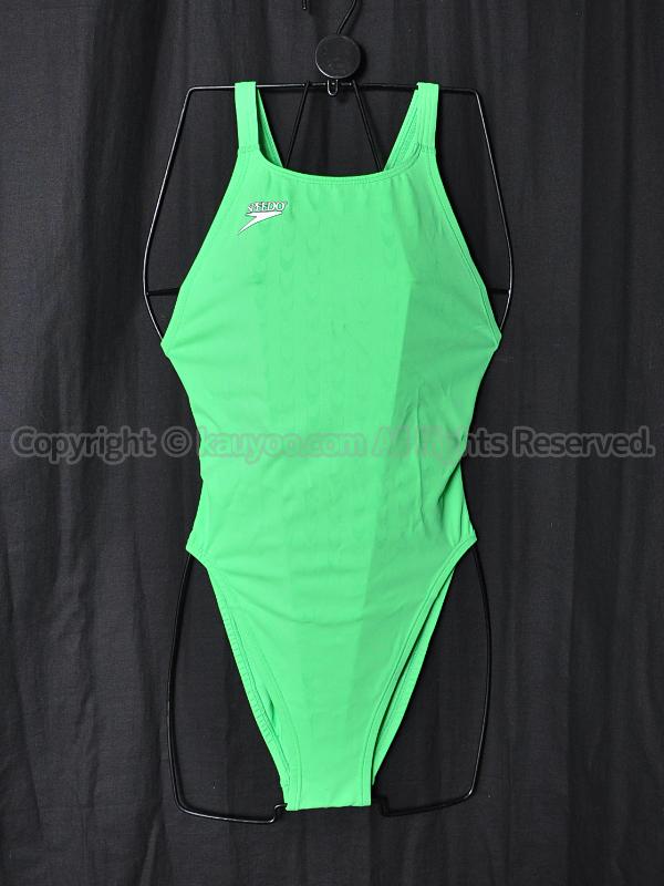 【買取】旧SPEEDOスピード83OE-15338アクアブレードWマーキュライン競泳水着ライムグリーン
