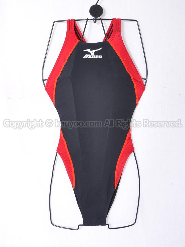 【買取】mizunoミズノMX-01ハイカット競泳水着Fina承認85OD-008ブラック×レッド