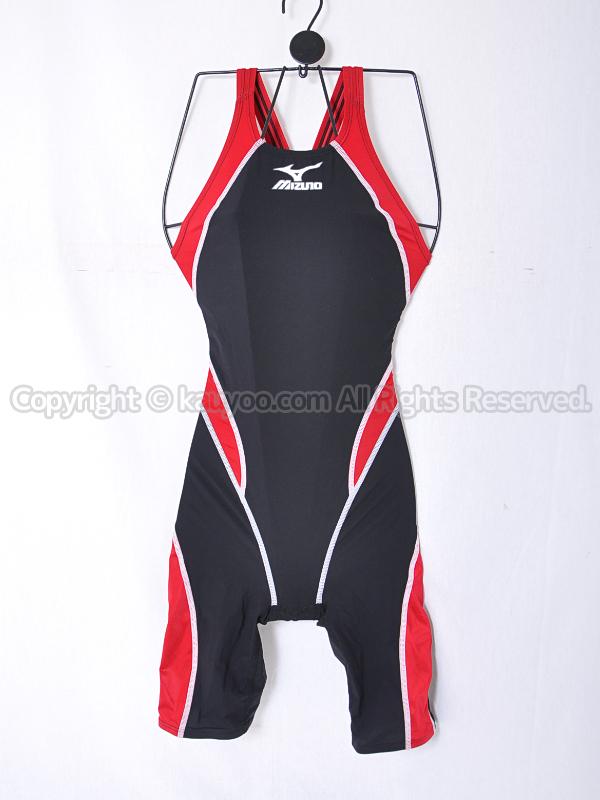 【買取】mizunoミズノMX-01ハーフスーツ競泳水着Fina承認85OC-008黒×赤×白ステッチ