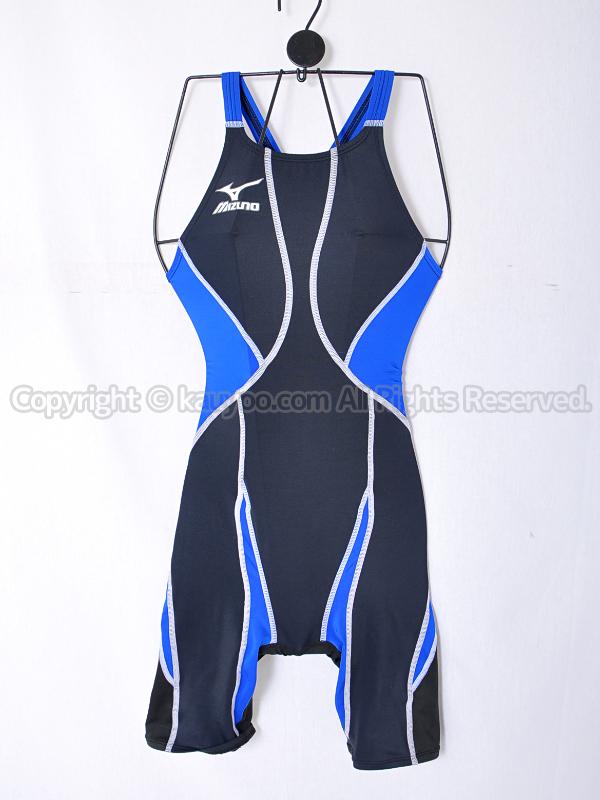 【買取】mizunoミズノKXハーフスーツ競泳水着Fina承認85OC-120ブラック×ブルー