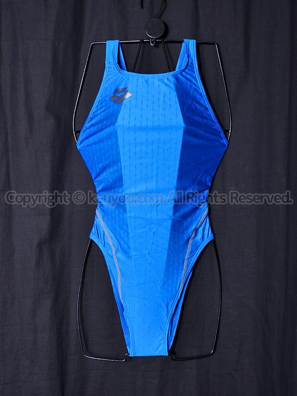 【買取】arenaアリーナnux-fニュークスFリミックARN-6012Wハイカット競泳水着ABLUブルー