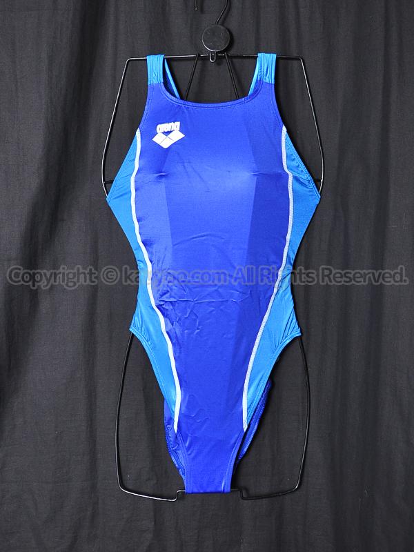 【買取】arenaアリーナ初期NUXニュークスARN-5041Wリミック競泳水着ロイヤルブルー×マリンブルーRYMB