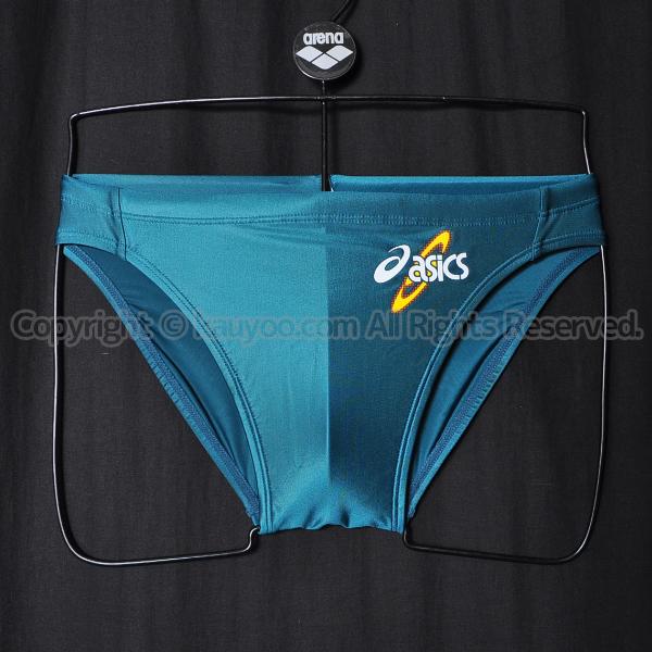 【買取】asicsアシックス初期ロゴAMA403ハイドロSPスパイラルカット2競パン競泳水着Dグリーン