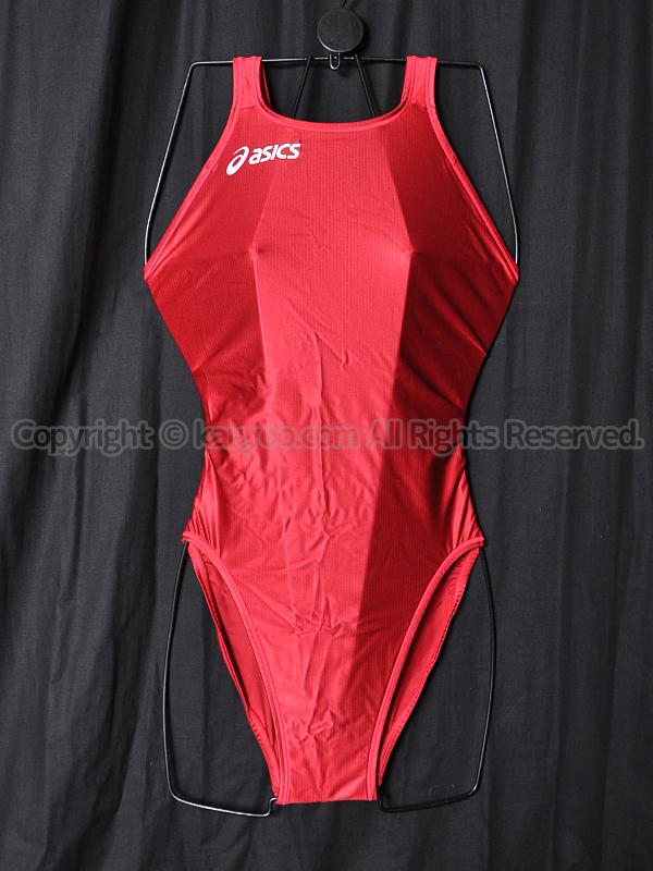 【買取】asicsアシックス旧ロゴSPLASHER-Sハイカット競泳水着Fina承認ALS427エンジ