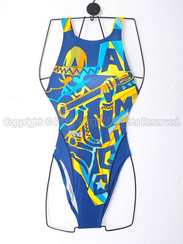 【買取】arenaアリーナnuxニュークスFAR-6509WHリミック競泳水着SLT柄物