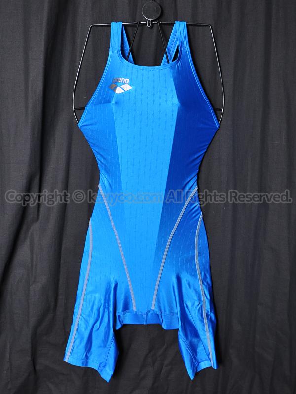 【買取】arenaアリーナnux-fハーフスパッツ競泳水着Fina承認ARN-6011WNブルーABLU
