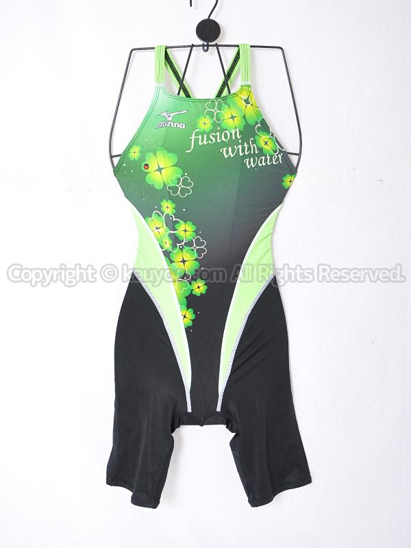 【買取】mizunoマイティライン85OI041ハーフスーツ競泳水着グリーン