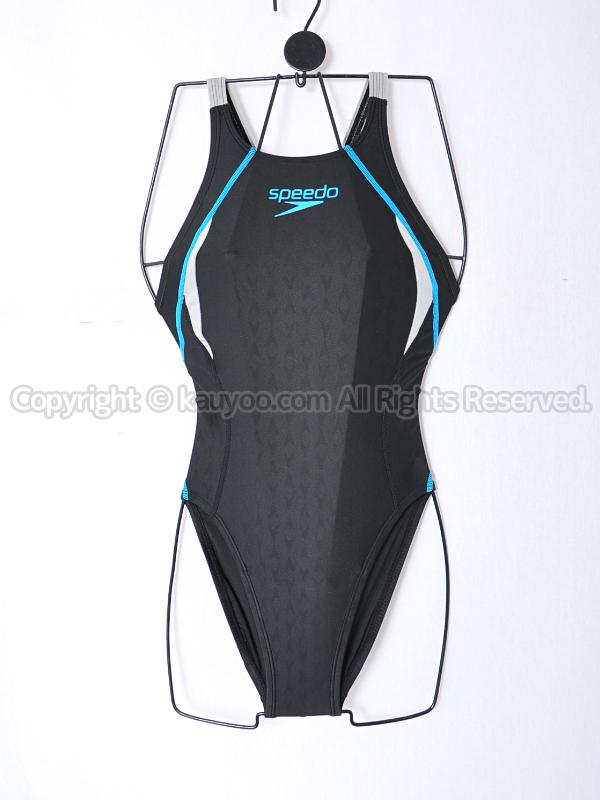【買取】speedoスピードFLEXΣフレックスシグマFINA承認エイムカット競泳水着SD40B53F黒青灰