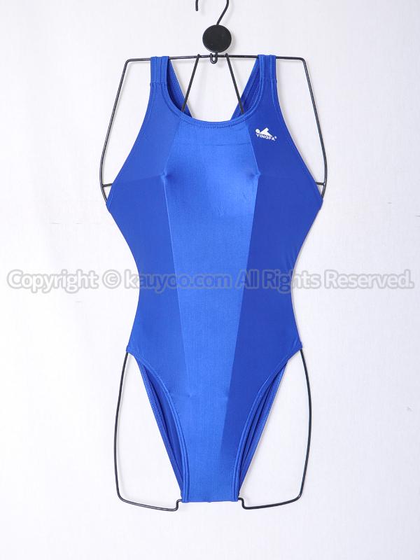 【買取】YINGFAインファー935光沢ハイカット競泳水着ネイビーブルー