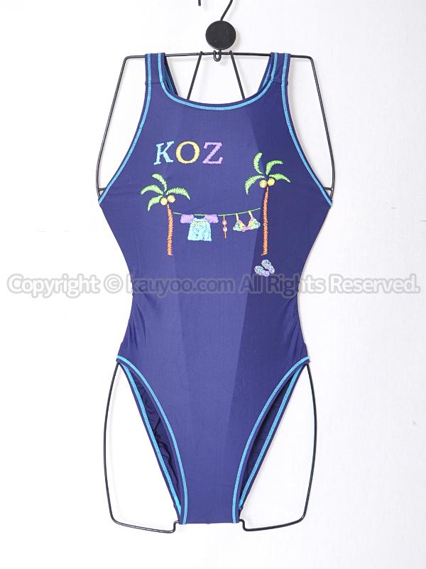 【買取】KOZコーズKOZ-1177Wネイビー柄ハイカット競泳水着