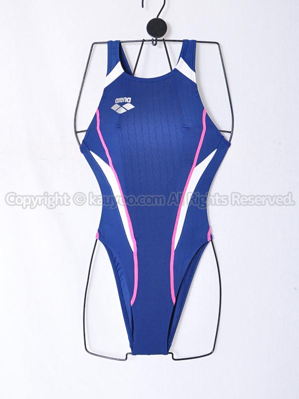 【買取】arenaアリーナX-PYTHONリミックFina承認ハイカット競泳水着OAR-2507WCネイビーNV22