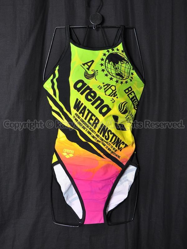 【買取】arenaスーパーフライバックSAR-6108Wタフスーツ練習用競泳水着GNPK
