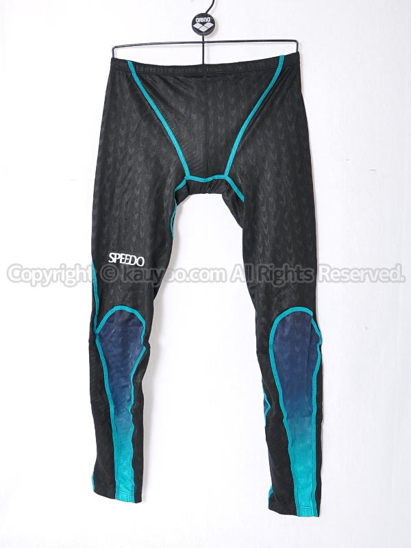 【買取】旧SPEEDOスピードfastskin exメンズロングスパッツ競泳水着83RC-35335グリーン×ブラック