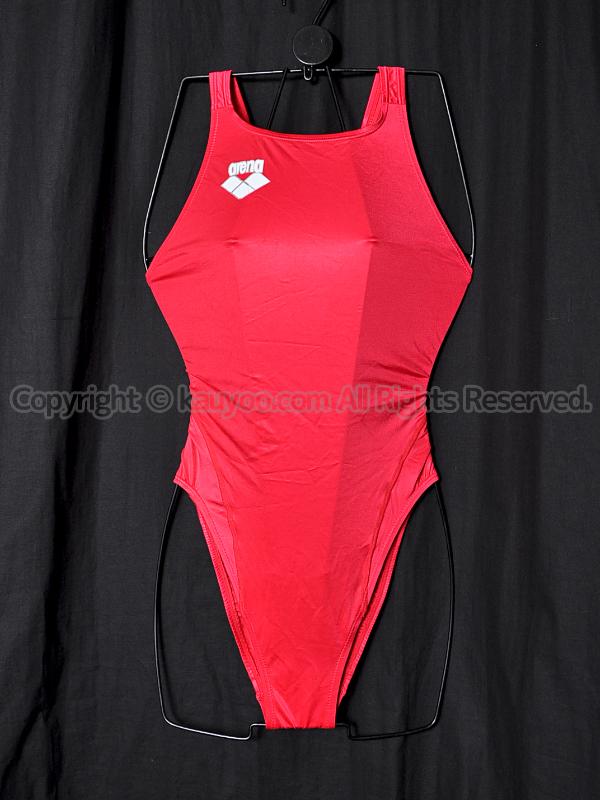 【買取】arenaアリーナ初期NUXリミックARN-4006Wハイカット競泳水着レッド赤