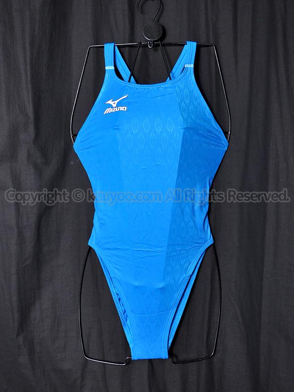 【買取】MIZUNOマイティライン初期モデル85OE-75022ハイカット競泳水着ライトブルー