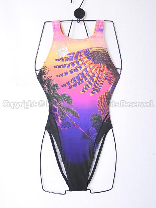 【買取】arenaアリーナnuxニュークスFAR-4525Wリミック競泳水着BLK翼柄