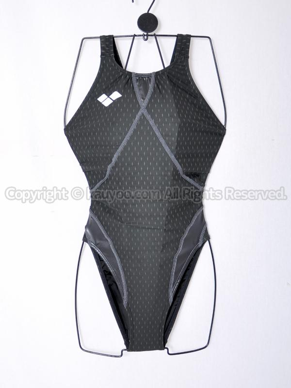 【買取】arenaアリーナaile-blueエールブルーARN-6004Wハイカット競泳水着ブラック