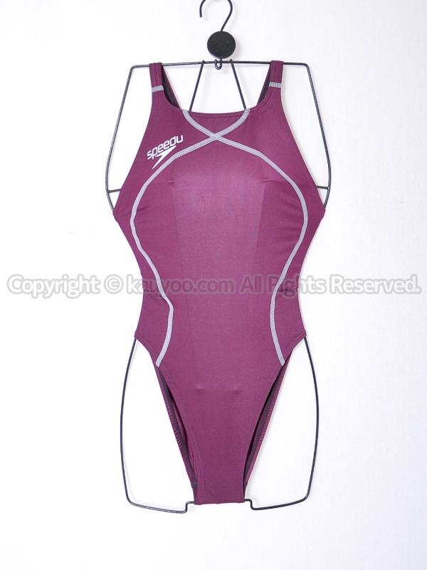 【買取】speedoスピードflyingfishフライングフィッシュSD48A52Aレースカット競泳水着エンジ