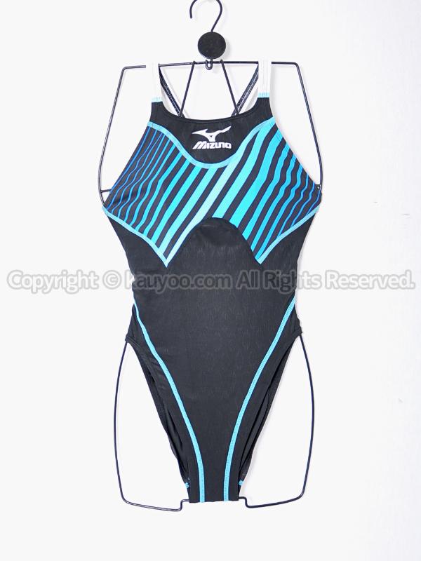 【買取】mizunoアクセルスーツ85OD-91192マイティライン ハイカットAS 競泳水着ブラック×ブルー