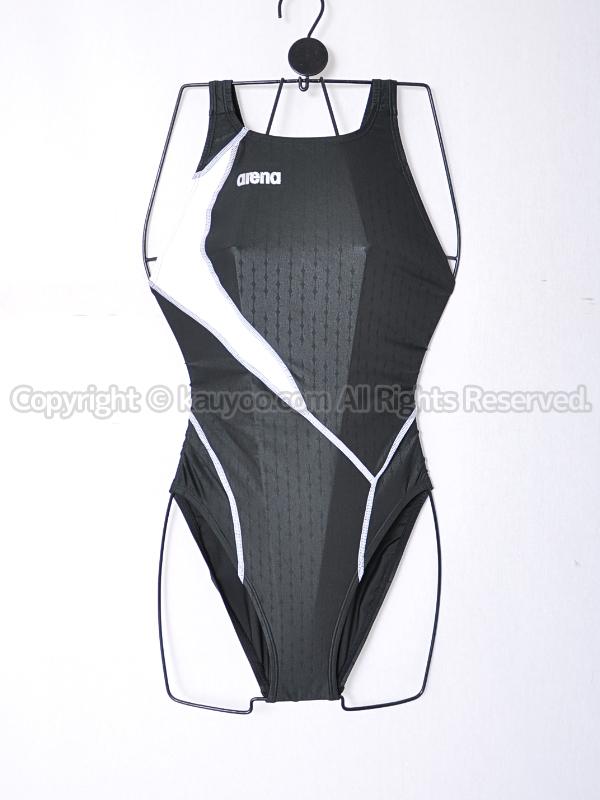 【買取】arenaアリーナnux-fスイムテック21競泳水着FAR-9535WLブラック×ホワイト
