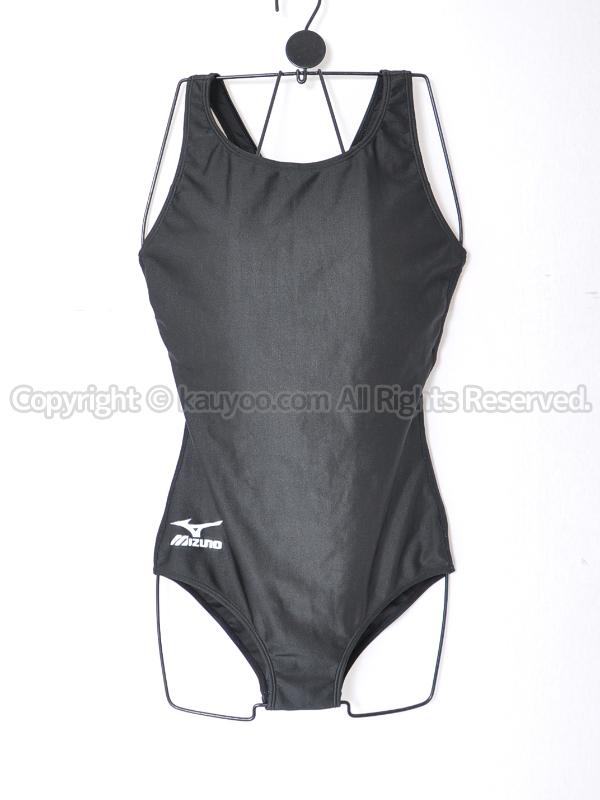 【買取】mizunoミズノ黒グレコバック女子スクール水着85EE-200ブラック