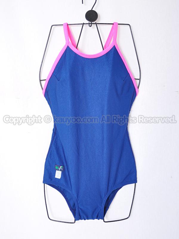 【買取】TOPACEトップエースSW10Kパイピング女子スクール水着 濃紺×ピンク