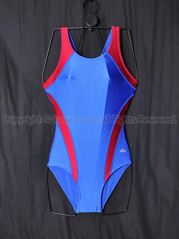 【買取】Galaxギャレックス グレコバック女子スクール水着ブルー×レッド