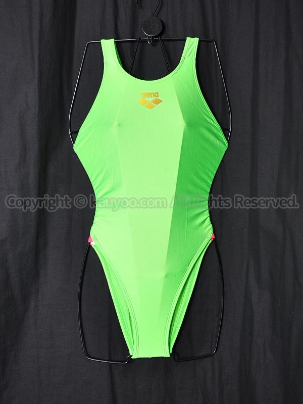 【買取】arenaアリーナSTRUSHストラッシュ7001W メダリストラインリミック競泳水着グリーン×ピンク