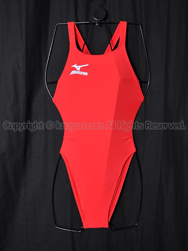 【買取】mizunoミズノ850Q23100マイティライン2 Fina承認ハイカット競泳水着レッド赤