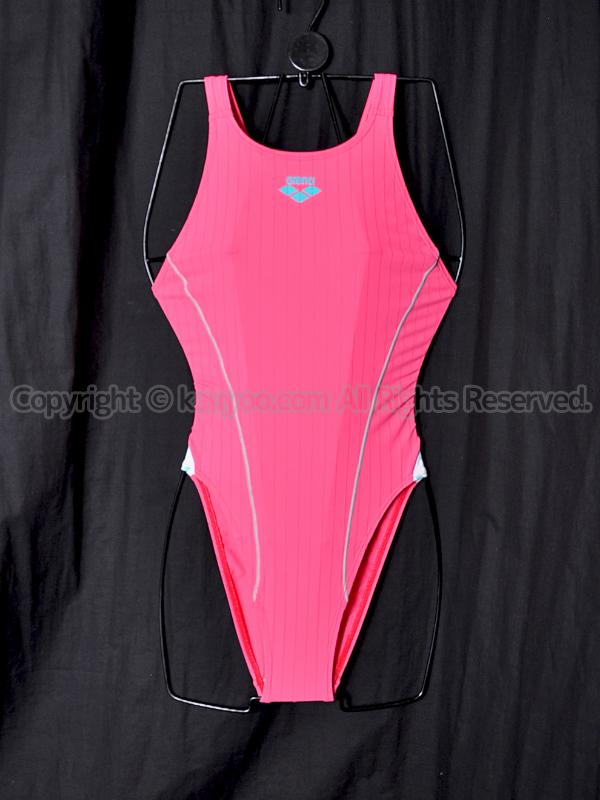 【買取】arenaアリーナARN-7019WHダブルマットFリミック競泳水着ピンク