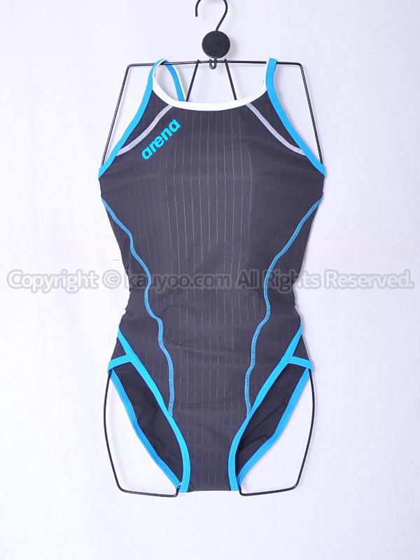 【買取】arenaスーパーフライバックSAR-6101WタフスキンDストライプ 練習用競泳水着BGSX