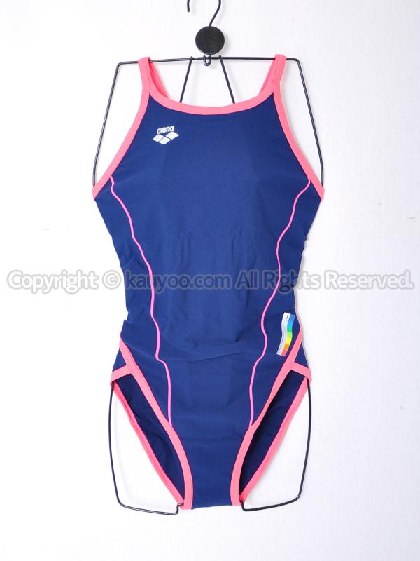 【買取】arenaスーパーフライバックFSA-2634Wタフスーツ練習用競泳水着ネイビー×ピンク