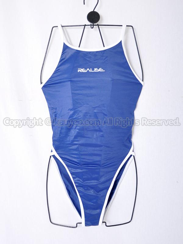 【買取】REALISEリアライズSSW素材バインドタイプ競泳水着風コスチュームN-033ネイビー×白