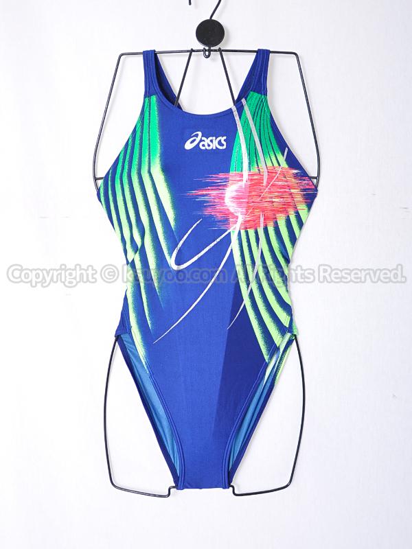 【買取】asicsアシックスALS140ハイドロSPマイティーカット競泳水着ネイビー柄