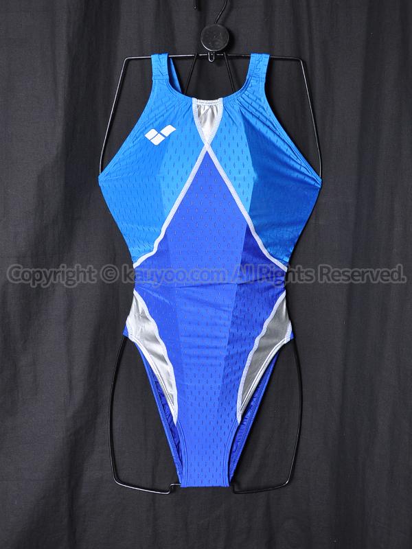 【買取】アリーナaile-blueエールブルーARN-6004Wニューリミック競泳水着ブルー×シルバー