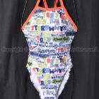 ミズノEXER SUITSエクサスーツTOY STORY練習用競泳水着N2MA878001白WOODY柄