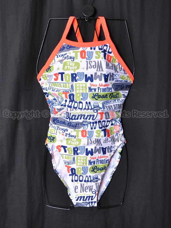 【買取】ミズノEXER SUITSエクサスーツTOY STORY練習用競泳水着N2MA878001白WOODY柄