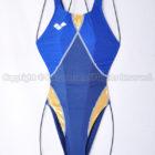 arenaアリーナaile-blueエールブルーARN-6004Wニューリミック競泳水着ネイビー×ゴールド