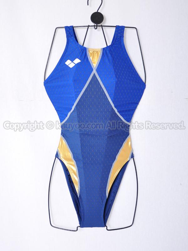 【買取】arenaアリーナaile-blueエールブルーARN-6004Wニューリミック競泳水着ネイビー×ゴールド