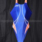 asicsアシックスTLINER TYPE ZEROホールドカット競泳水着ALS311ブルー×オレンジ