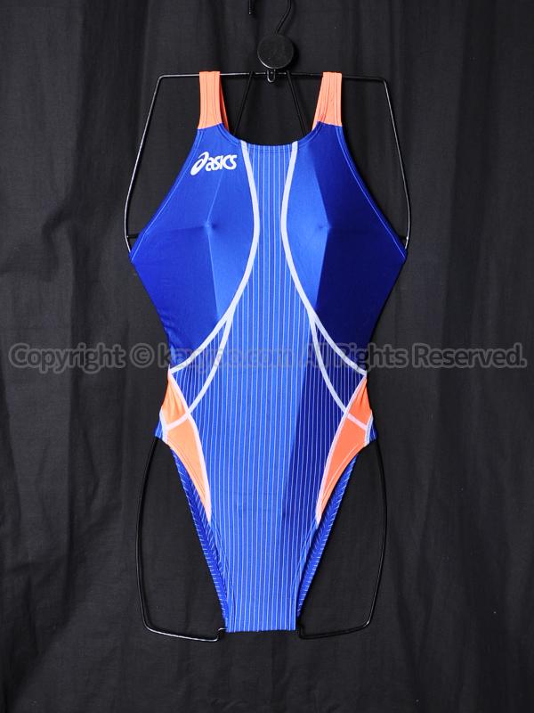 【買取】asicsアシックスTLINER TYPE ZEROホールドカット競泳水着ALS311ブルー×オレンジ