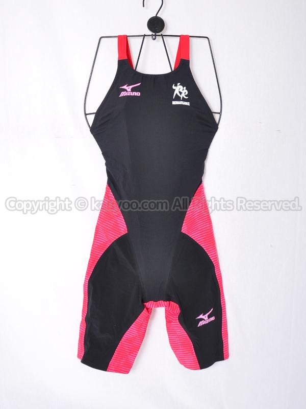【買取】mizuno スポーツクラブ ルネサンス GX・SONICⅢ MR ハーフスーツ競泳水着 N2MG620296 黒赤