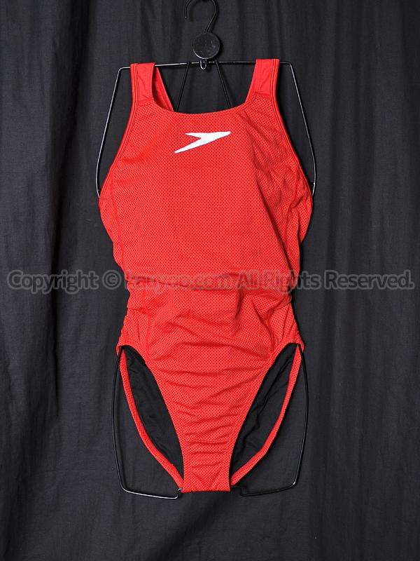 【買取】SPEEDOスピードDrag Suitsパンチングメッシュ素材トレーニング競泳水着レッド