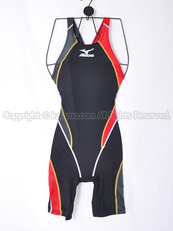 【買取】mizunoミズノMX-01ハーフスーツ競泳水着85OC-230ブラック×レッド×チャコール