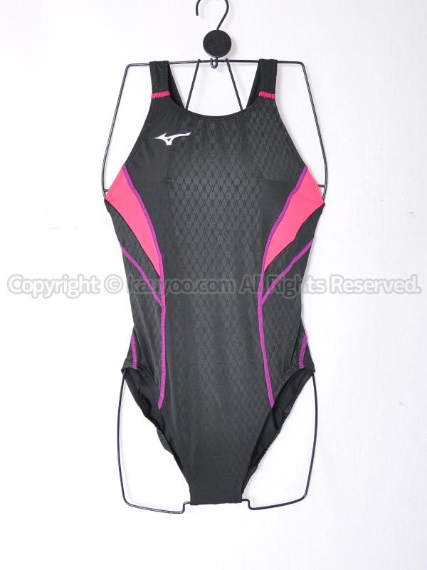 【買取】ミズノStreamActivaストリームアクティバFina承認競泳水着N2MA824096ブラック×ピンク