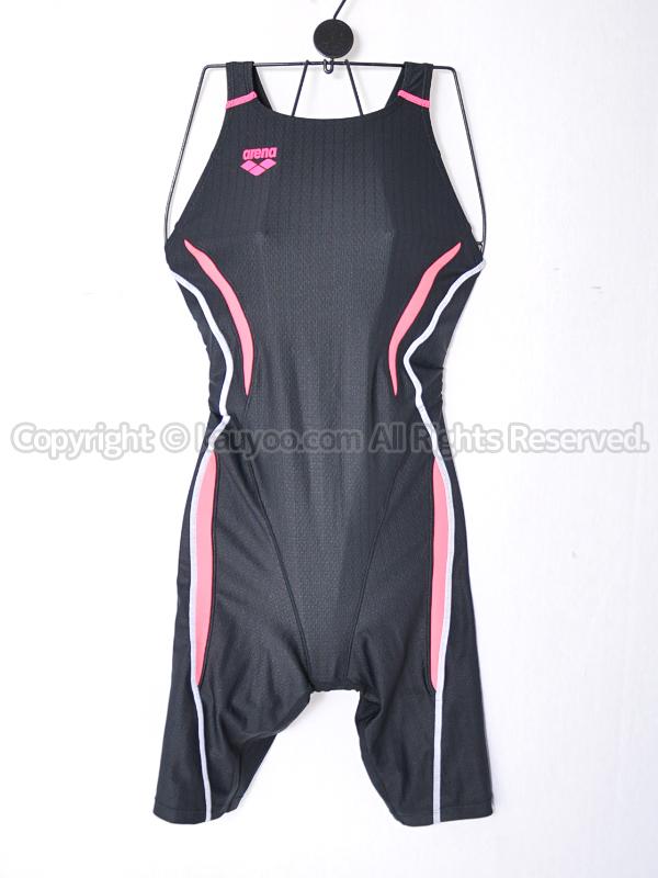 【買取】arenaアクアレーシングUROKOSKIN-STスパッツ競泳水着ARN-7050Wブラック×Cピンク