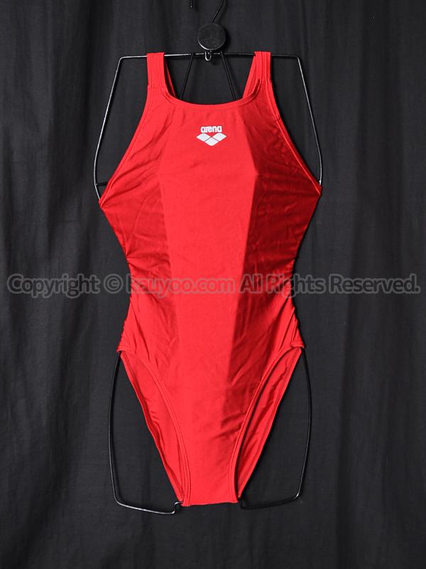 【買取】arenaスーパーストリーナSAR-6118WダブルエステルBA練習用競泳水着ARED