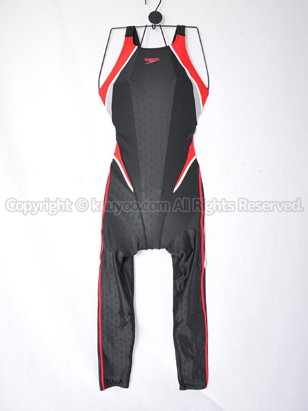 【買取】speedoスピードFLEXΣ2ロングジョン練習用競泳水着SCW31909レッドRE
