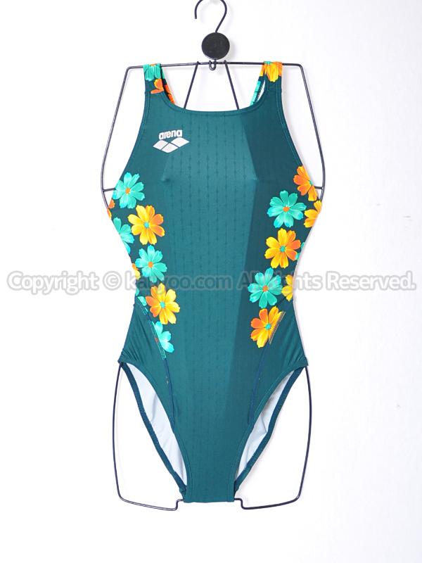 【買取】arenaアリーナnux-fスイムテック21競泳水着FAR-8537WLグリーン