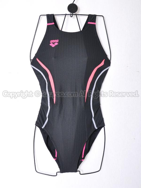 【買取】アリーナAQUA RACINGウロコスキンSTセイフリーバックARN-7051W競泳水着BKCP